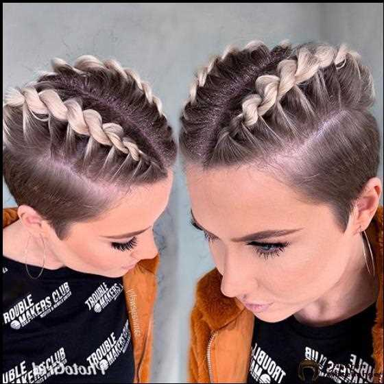French Braid Kurz Haar