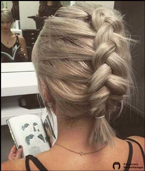 French Braid Frisuren für kurzes Haar