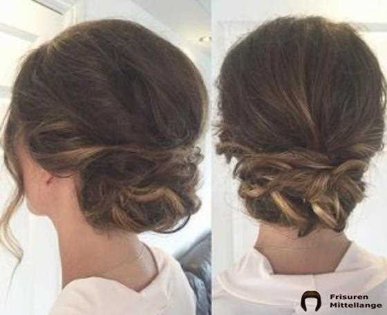 Lässiger Twisted Low Bun