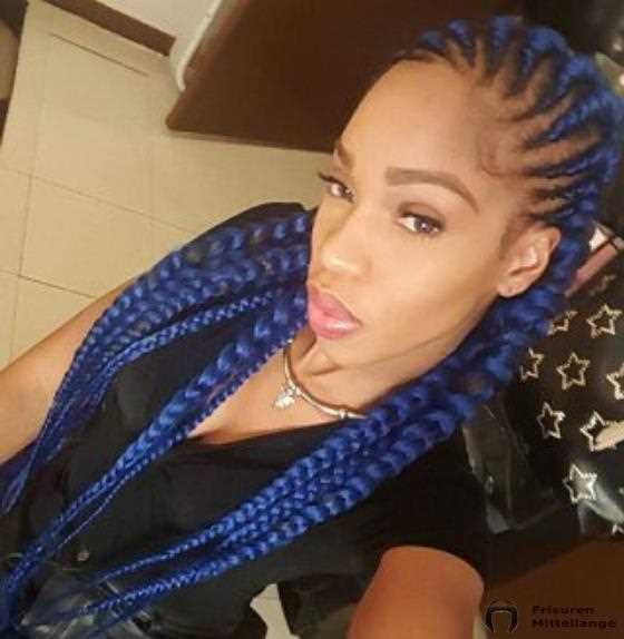 Midnight Blue Ghana Cornrows