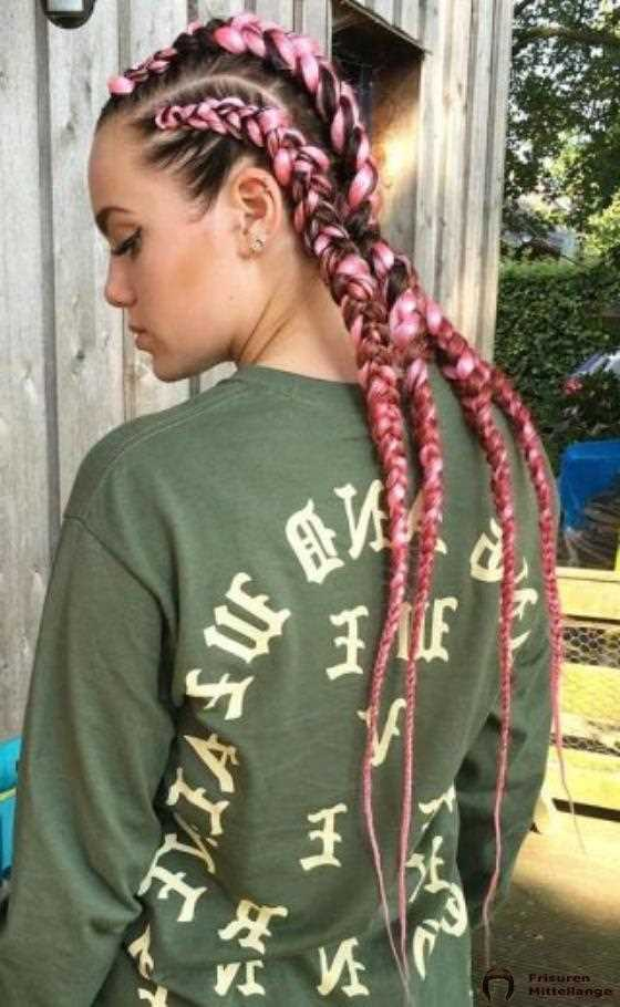 Barbie Pink Dutch Braid Cornrows