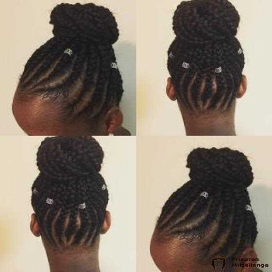 Cornrows Top Bun