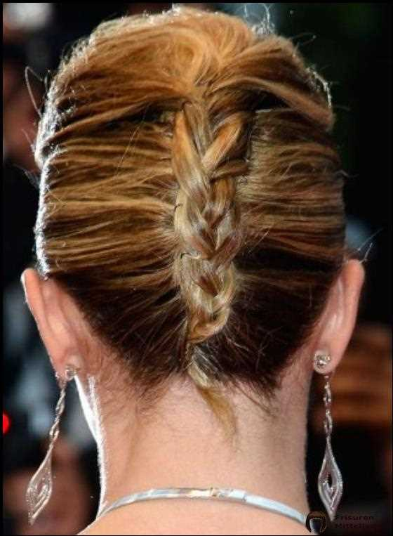 Double French Twist mit Puffy Top und geflochtenem Ende