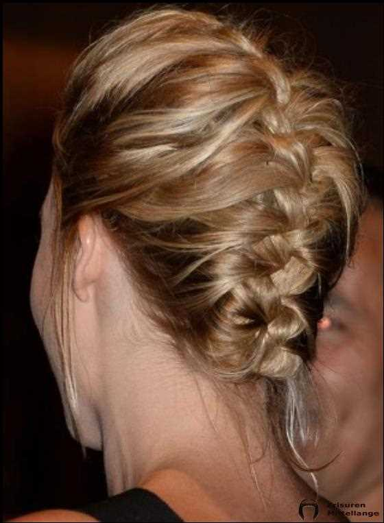 Umgekehrtes French Braid mit Puffy Top und Highlights