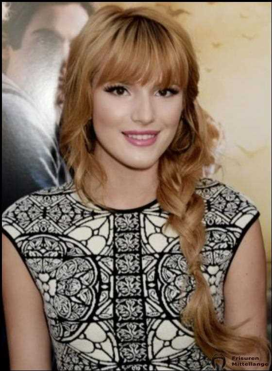 Loose Wellig Seite Braid mit Bang And Fringes