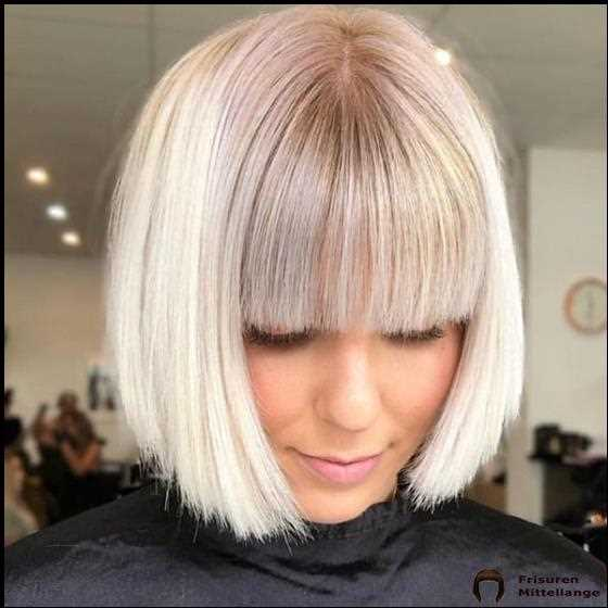 Mittellange frisuren blond 2020