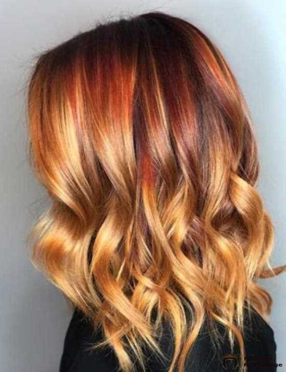 Rot-Blonde Ombre