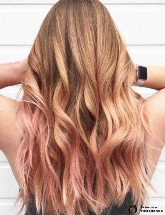15. Rose Gold Balayage