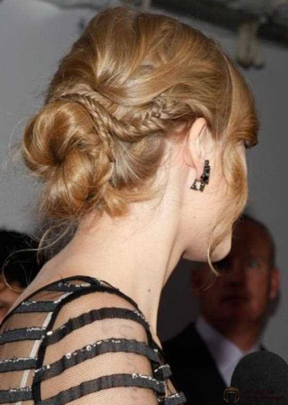 48. Twisted Low Bun mit geflochtenem Wickel:
