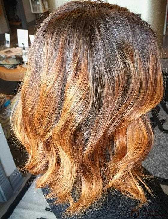 Copper Ombre On Wellig Bob