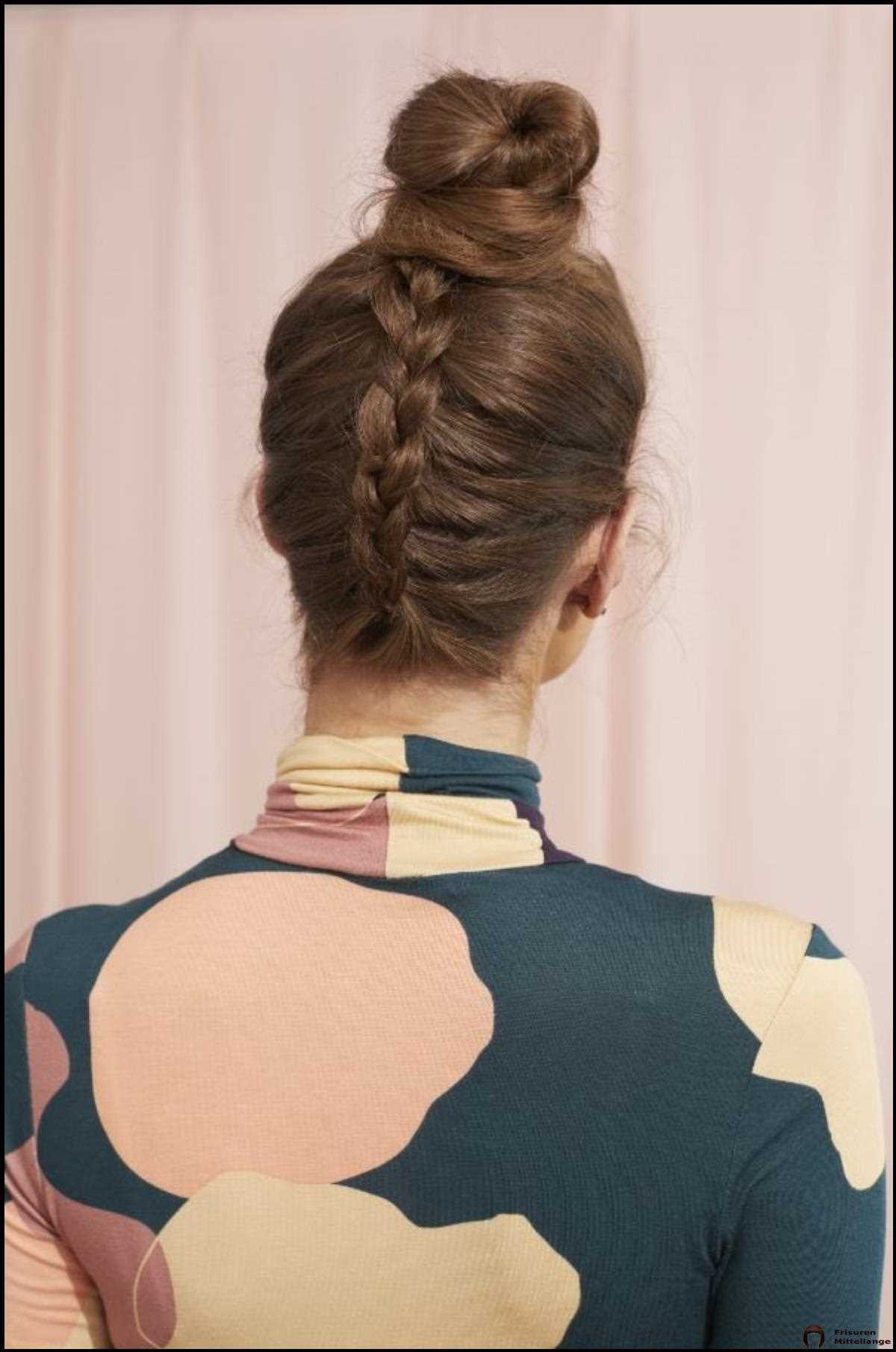 Upseite Down Dutch Braid Bun